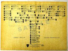 Historical Documents Company- George Washington's Family Tree