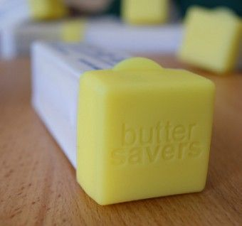 Butter Saver - caps onto the end of your butter to keep it fresh and use as a slicing guide for 1 Tbsp at a time