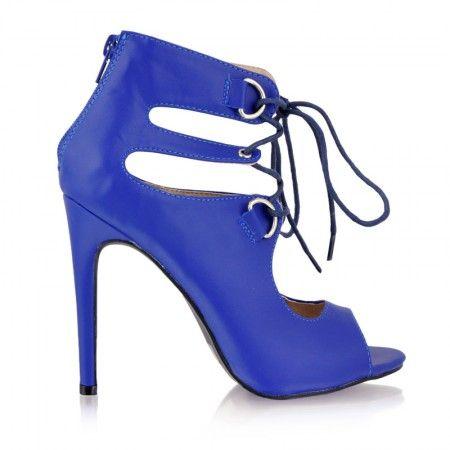 Botki Be Glamorous Blue Pu / Obuwie damskie - www.StyloweButy.pl