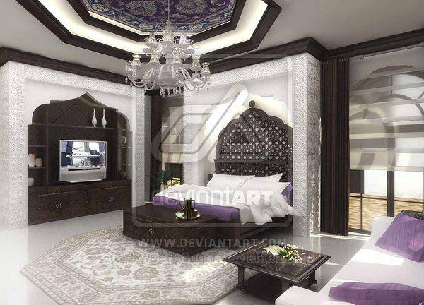 #Islamic Master bedroom   Villa - Design I   Pinterest ...