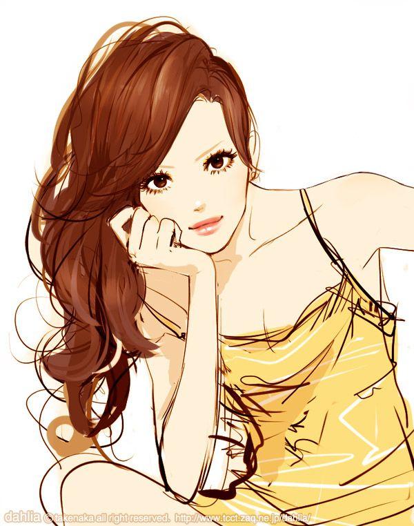 10 best anime girl curly hair images on Pinterest | Anime ...
