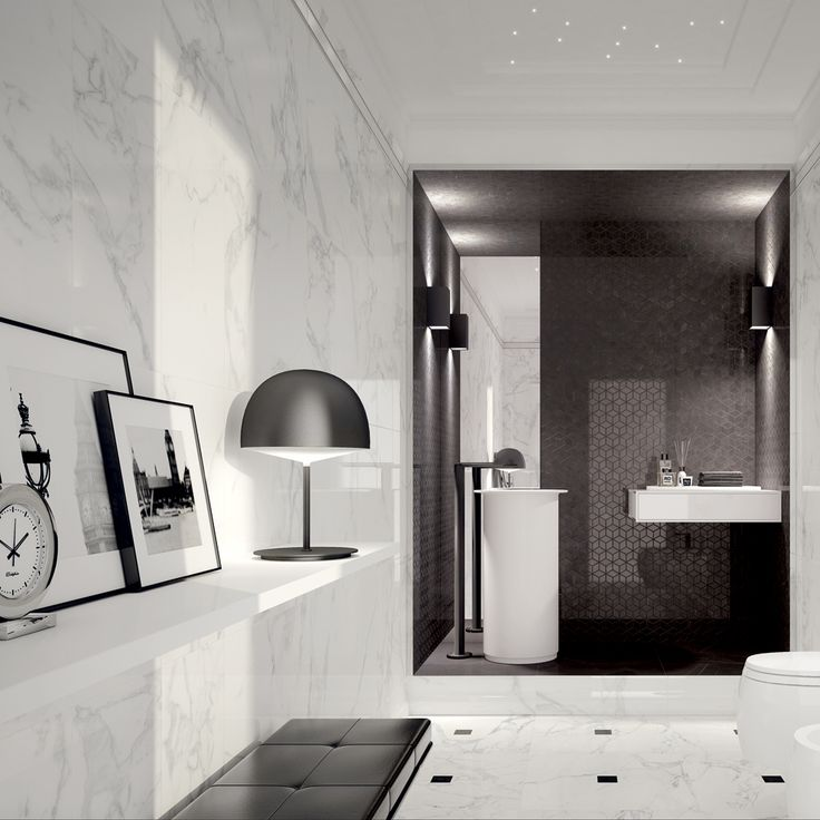Black Marble Bathroom Creative Custom Inspiration Design