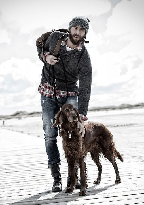just my rugged, bearded future husband with my future dog. pinterest, where did you pull this one from?