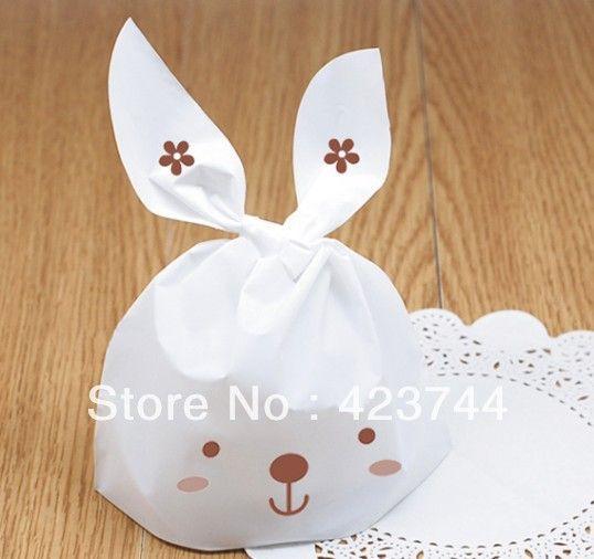 Baño Blanco Para Galletas:Información acerca de Conejo blanco de la galleta / bolsa de galletas