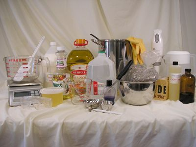 "Make homemade soap using the cold process ""from scratch"" method: How to Make Soap - Prepare Your Soap Making Workspace, Ingredients, & Lye"