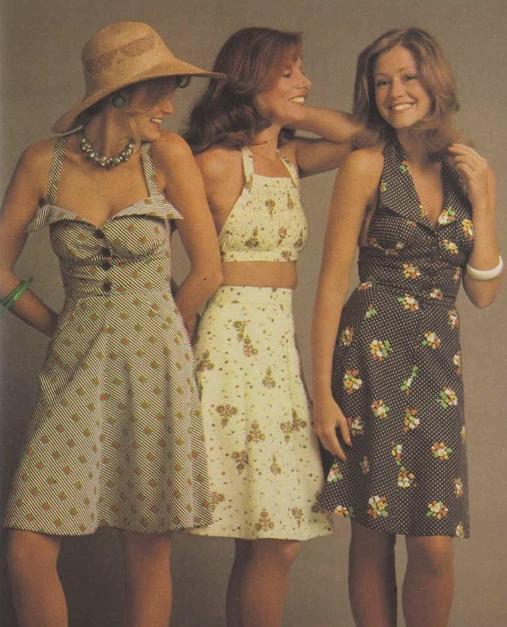 Summer dresses 70s style, 1975