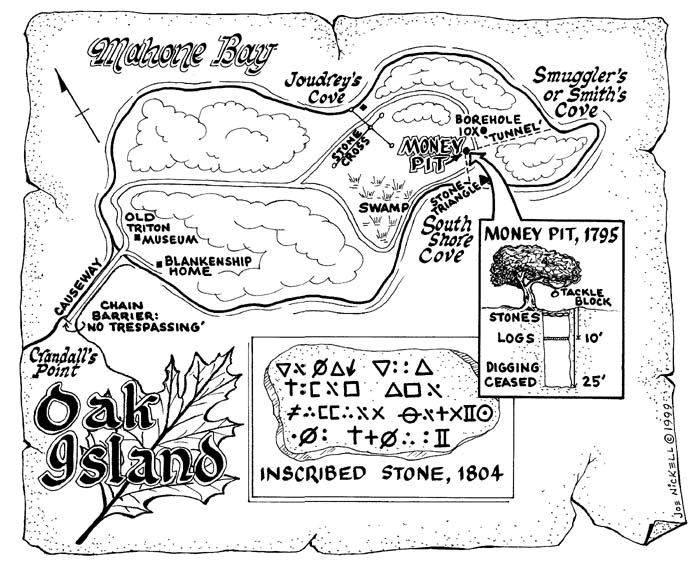 Oak Island Money pit, hunt for treasure, MAHONE Bay, Nova Scotia