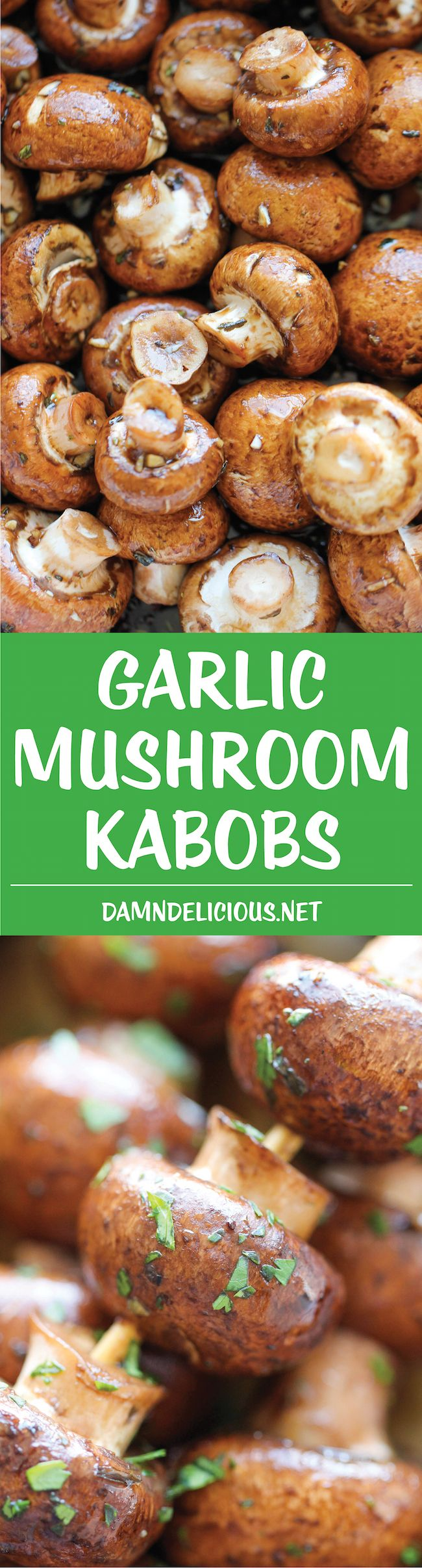 Garlic Mushroom Kabobs - The best and easiest mushrooms ever! It's so good, you'll want to make it every single day of the week!