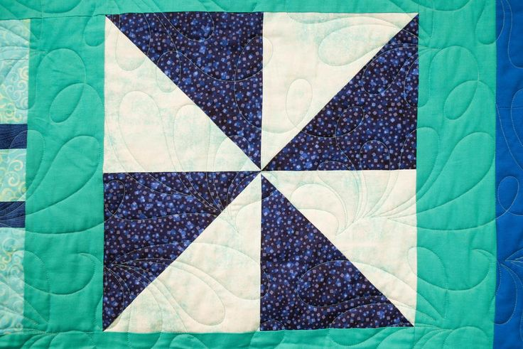 Half Square Triangle Block Pattern | The newest video in our Block of the Month series? The classic pinwheel!