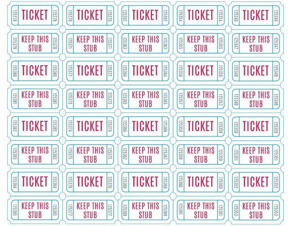 Homemade Raffle Tickets   Crazy Homemade