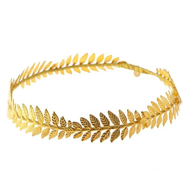 Johnny Loves Rosie Morgan Gold Leaf Headband ($45) ❤ liked on Polyvore featuring accessories, hair accessories, metallic, head wrap headband, hair band headband, gold headwrap, leaf hair accessories and gold hair accessories