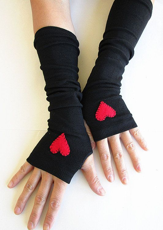 $12.00  LOVE!  Etsy listing at https://www.etsy.com/listing/112968374/hearts-arm-warmers-fingerless-gloves