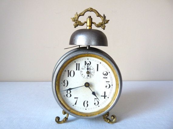 alarm clock for bedroom. 1900 french antique alarm clock metal bell by myfrenchycottage for bedroom m
