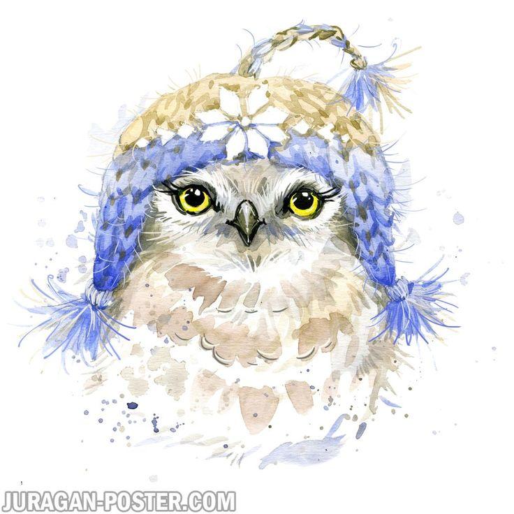 juragan poster jual poster gambar hewan lukisan burung hantu #jual #jualan #poster #juraganposter #binatang #hewan #burunghantu