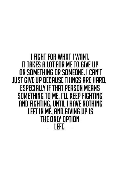Don't give up!❤