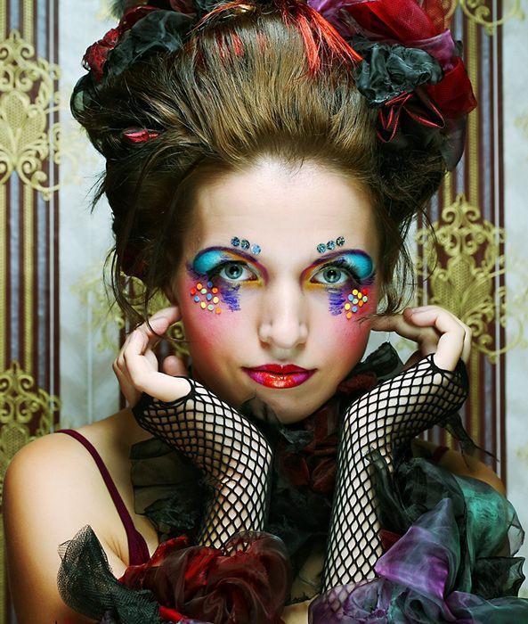 Moulin Rouge  #makeup #burlesque #carnival