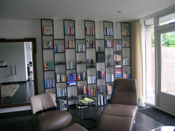 Afbeeldingsresultaat voor ingebouwde boekenkasten