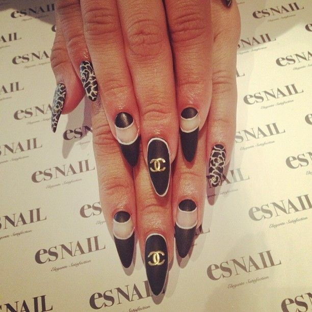 black lips and nails side