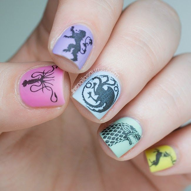36 best game of thrones nail art designs images on pinterest 40 game of thrones nail art design for 2015 fashion te prinsesfo Choice Image
