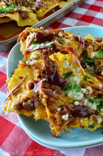 pulled pork nachos  Great way to use leftover pulled pork Oh this was so good, not very waist friendly but it was worth it!