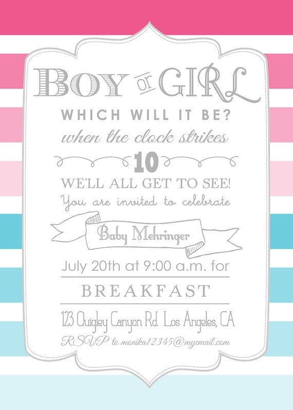 72 best gender reveal ideas oh my images on pinterest gender ombre gender reveal party printable invitation stopboris Image collections