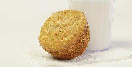 Muffin de base à l'avoine et aux canneberges