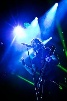 Singer Myles Kennedy of the American band Alter Bridge performs live during a concert at the Columbiahalle on November 13, 2016 in Berlin, Germany.