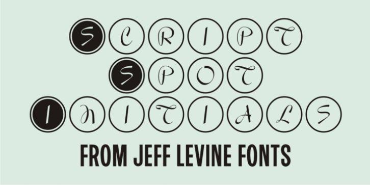 Script Spot Initials JNL font download