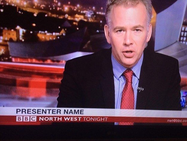 When the BBC's North West Tonight hired a presenter with the most uncanny name. | The 18 Greatest British TV News Fails Of 2014
