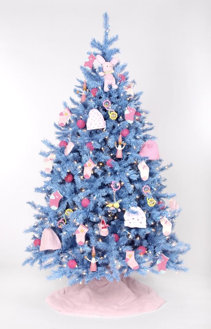 Blue christmas trees decorating ideas - Baby Blue Christmas Tree