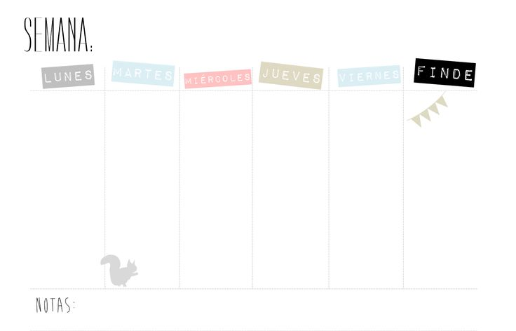 Creative Mindly: Organizadores semanales para descargar + DIY caja de luz: Blogueras motivadas