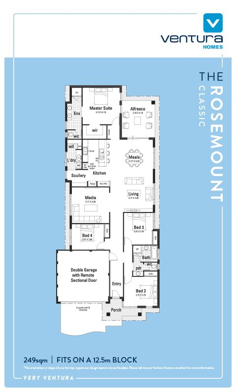 4 Bedroom Home   Take A Step Inside The Rosemount, A Stunning Single Storey  Display. Home DesignHouse PlansModern ...