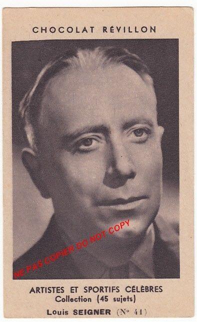 Louis Seigner Actor Acteur Comedie Francaise Artist Paris France Image Ancienne | eBay