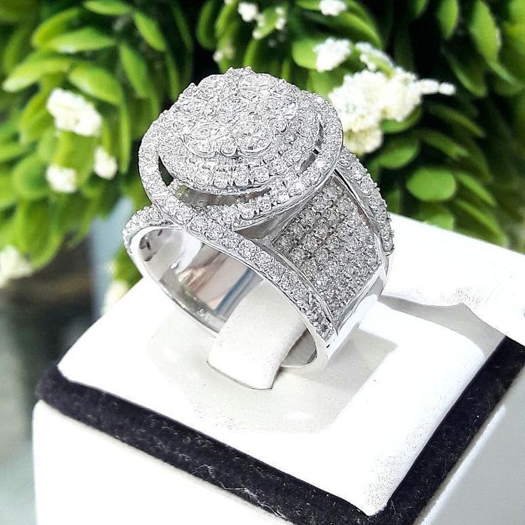 White Gold Finish 4.00 Ct Engagement Wedding Round Cut Diamond 925 Silver Ring #SolitairewithAccents #EngagementWeddingAnniversaryDailyWear