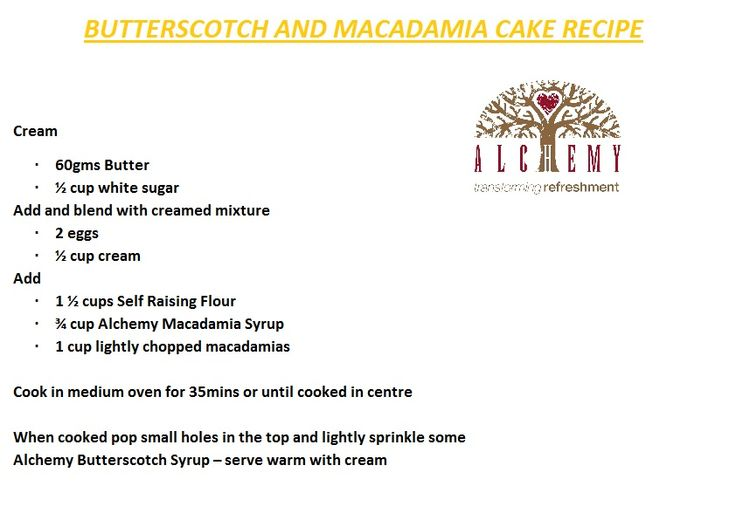 Butterscotch and Macadamia Cake