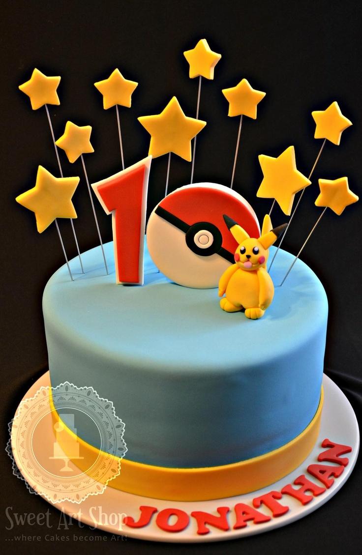 Pokemon Cake- minus the pokemon