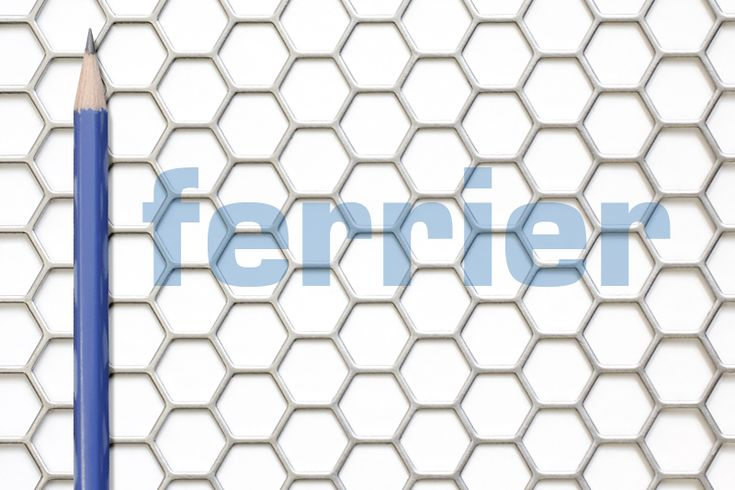 "Ferrier Design perforated metal, 1/2"" hexagon pattern, mild steel (unfinished metal)"
