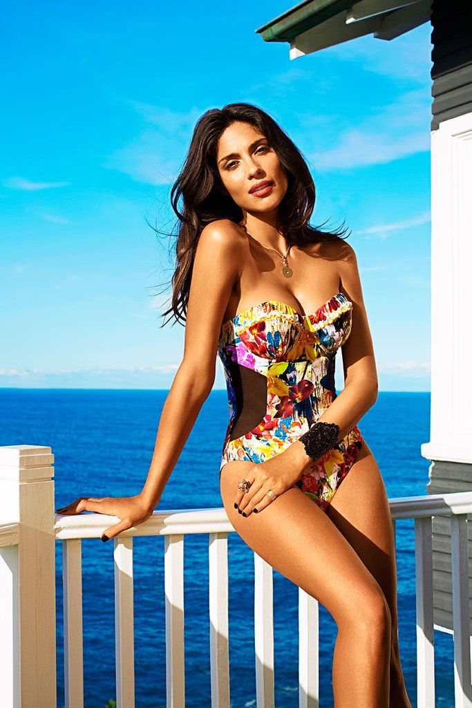 Hot One piece: Pia Miller in Megan Gale Isola Swimwear 2013! #swimsuit
