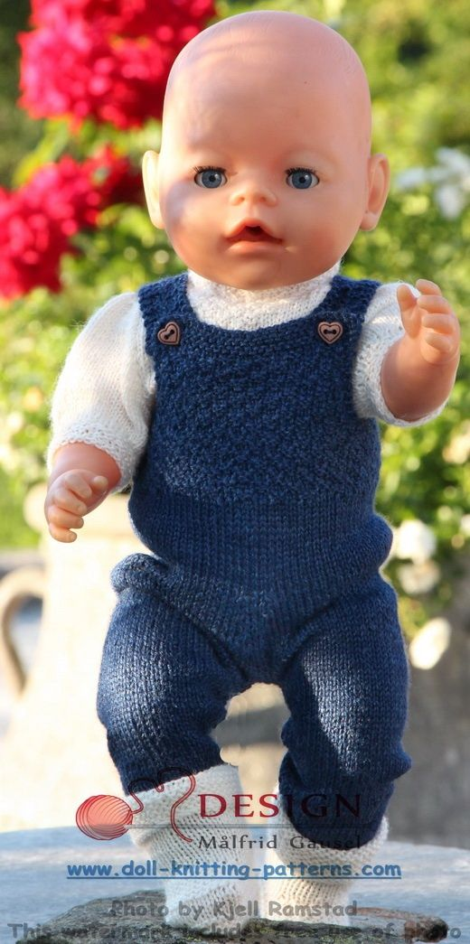 Målfrid Gausel 18 inch doll knitting patterns; the summer special - a stylish designer suit for you doll