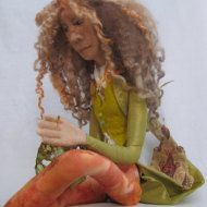 AVAILABLE OOAK art doll figure sculpture by BoblBachCeriwilliams