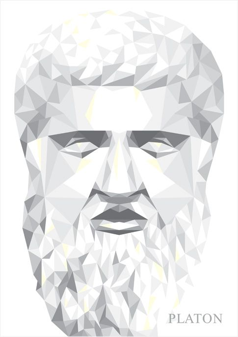 Identity Poster for Platon - illustration by Tobias Scheel Mikkelsen