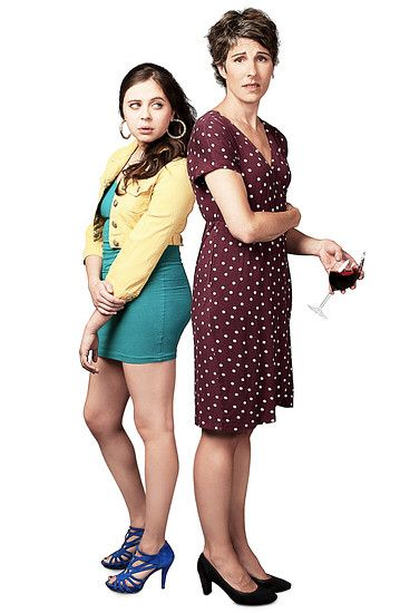 Bel Powley & Tamsin Greig in theatre play 'Jumpy'