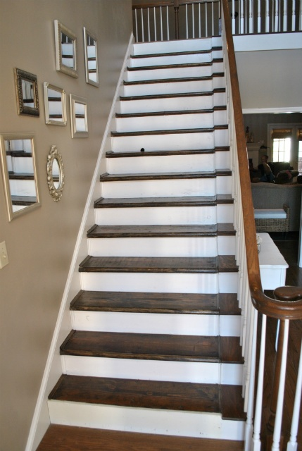 1000 images about redoing the stairs on pinterest for Ideas for redoing stairs