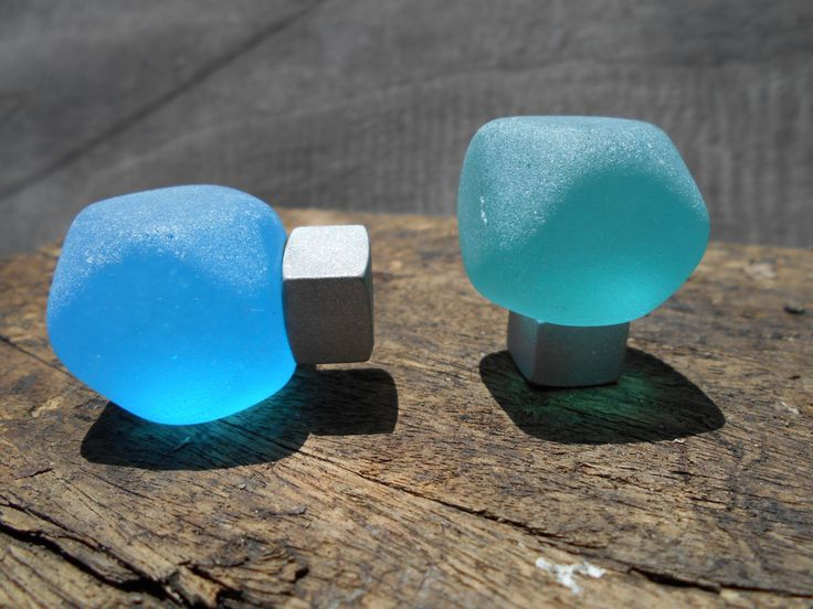 Truncated and tumbled glass cabinet knob by bgisland on Etsy, $14.00