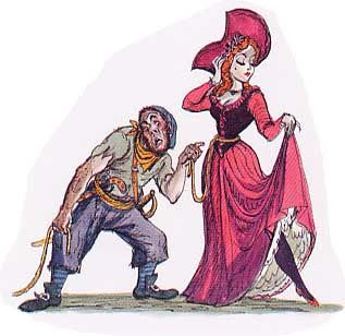 Marc Davis renderings created for Pirates of Caribbean