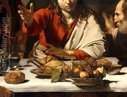 The Supper at Emmaus, 1601 (detail-1)  by Caravaggio