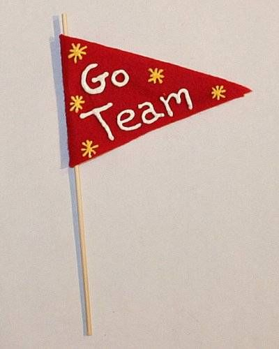 sports crafts for kids | Sports Pennant Art Craft for Kids