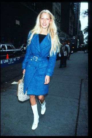 Gucci coat worn by Kirsty Hume, 1995