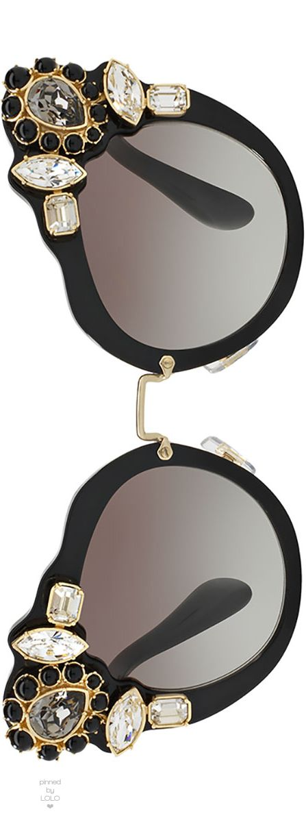 Miu Miu Gradient Embellished Dramatic Cat-Eye Sunglasses