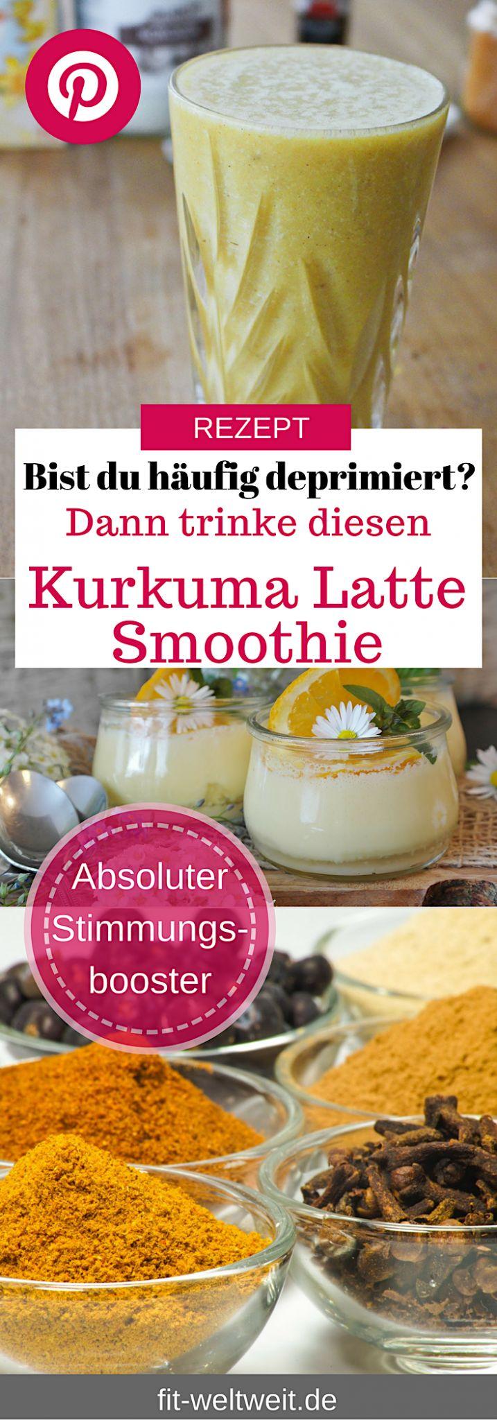 #Depressionen überwinden Hausmittel #Kurkuma: Ein Kurkuma Latte gehört mit zu meinen neuen Lieblingsdrinks. Anstatt eines Kaffees oder Chai Lattes, darf es jetzt gerne auch mal ein Kurkuma Latte sein. Heute habe ich euch einen #Smoothie gemixt, der zahlreiche entzündungshemmende Wirkstoffe in sich trägt und unglaublich intensiv und lecker schmeckt.